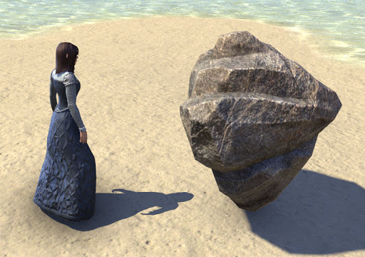 woman and rock